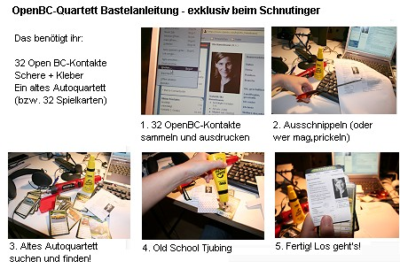 OpenBC - Xing, Quartett zum Selberbasteln - die Bastelaunleitung, exklusiv auf Schnutinger.de