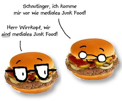 Herr Wirrkopf und Schnutinger sind Mediales Junk Food