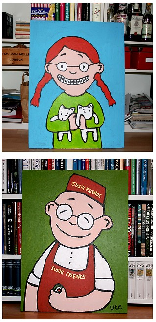 Cartoon Kunst, Cartoons, Cartoon Bilder, Acryl, Schnutinger, Toonart, Blogart, Blog-Art, Blog-Kunst, Kaufen, Shop
