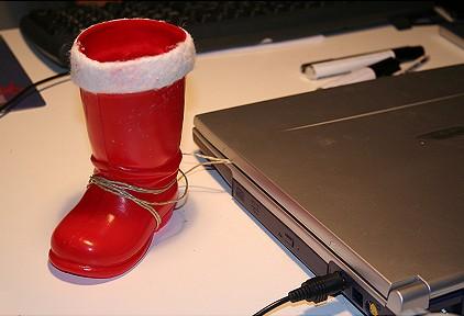 Nikolaus 2006 - Herr Wirrkopf hat sein Stiefelchen rausgestellt